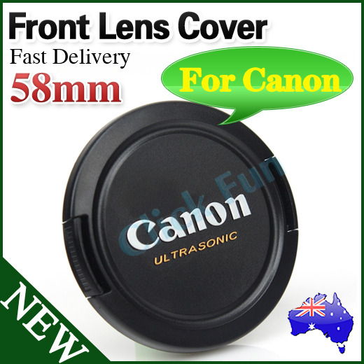 58mm-Snap-On-Ultrasonic-Front-Lens-Cap-Cover-For-Canon-EOS-Camera-650D-600D-AU