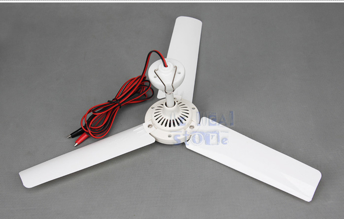 Mini 12v Dc Ceiling Fan 3 Blades Ideal For Solar Power