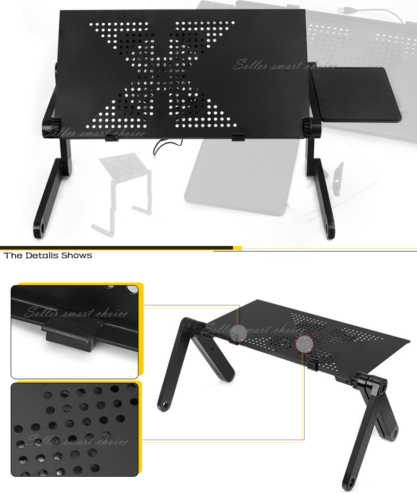 Portable Keyboard Mouse Tray Portable Battery Operated Blender Portable Projector Makro Portable Bluetooth Speaker And Radio: Portable Laptop Stand/Desk/Table/Tray Notebook Cooling Fan